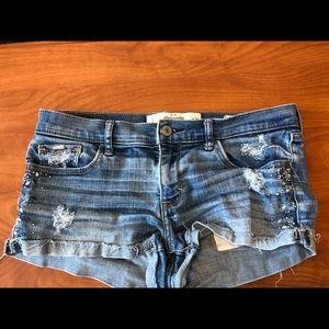 A&E Jean Shorts with bling